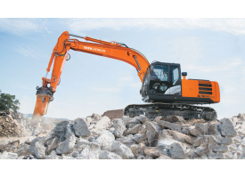 Tata Hitachi 200 with rock breaker